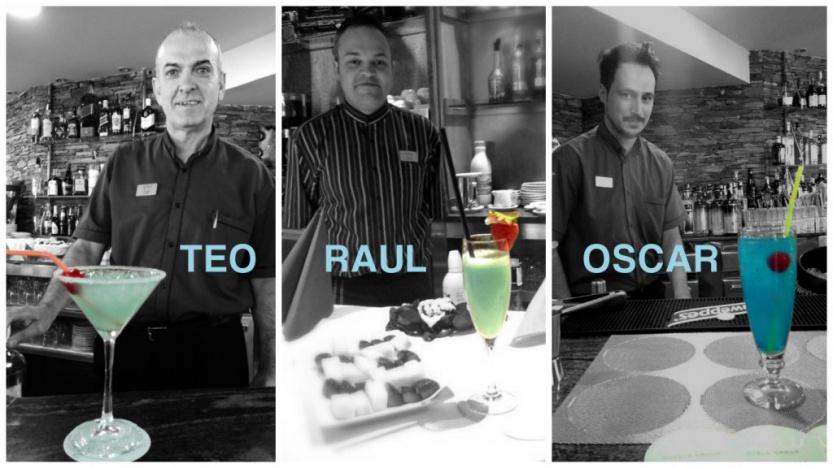 Finalistas Sumus Cocktail : Teo, Raul, Oscar